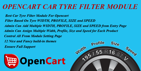 Opencart Car Tyre Filter Module - CodeCanyon Item for Sale