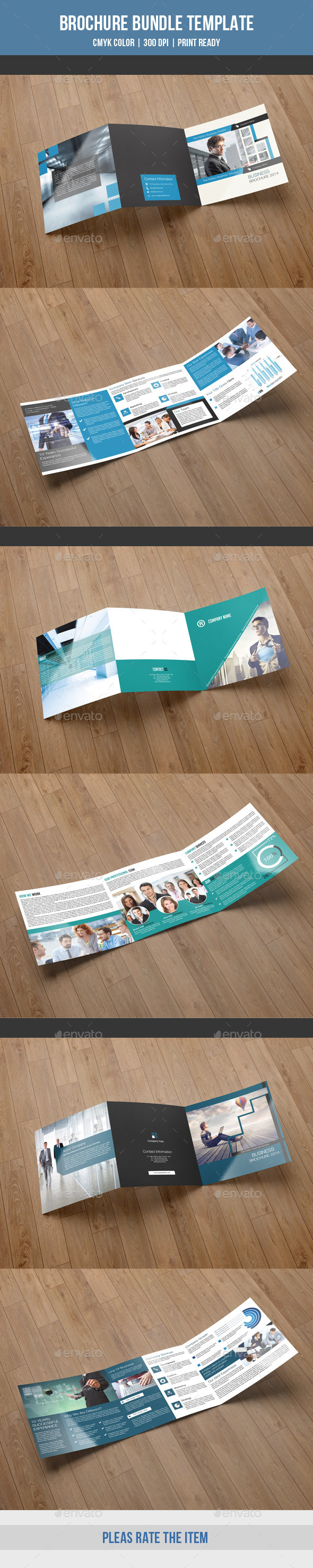 Square Trifold Bundle-V01 - Corporate Brochures