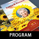 Sunflower Funeral Program Template - GraphicRiver Item for Sale