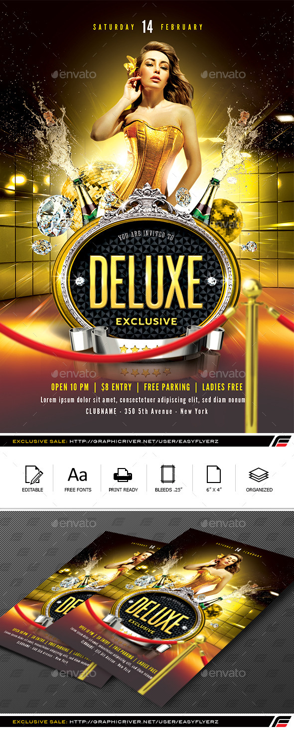 Deluxe Exclusive Flyer Template - Events Flyers