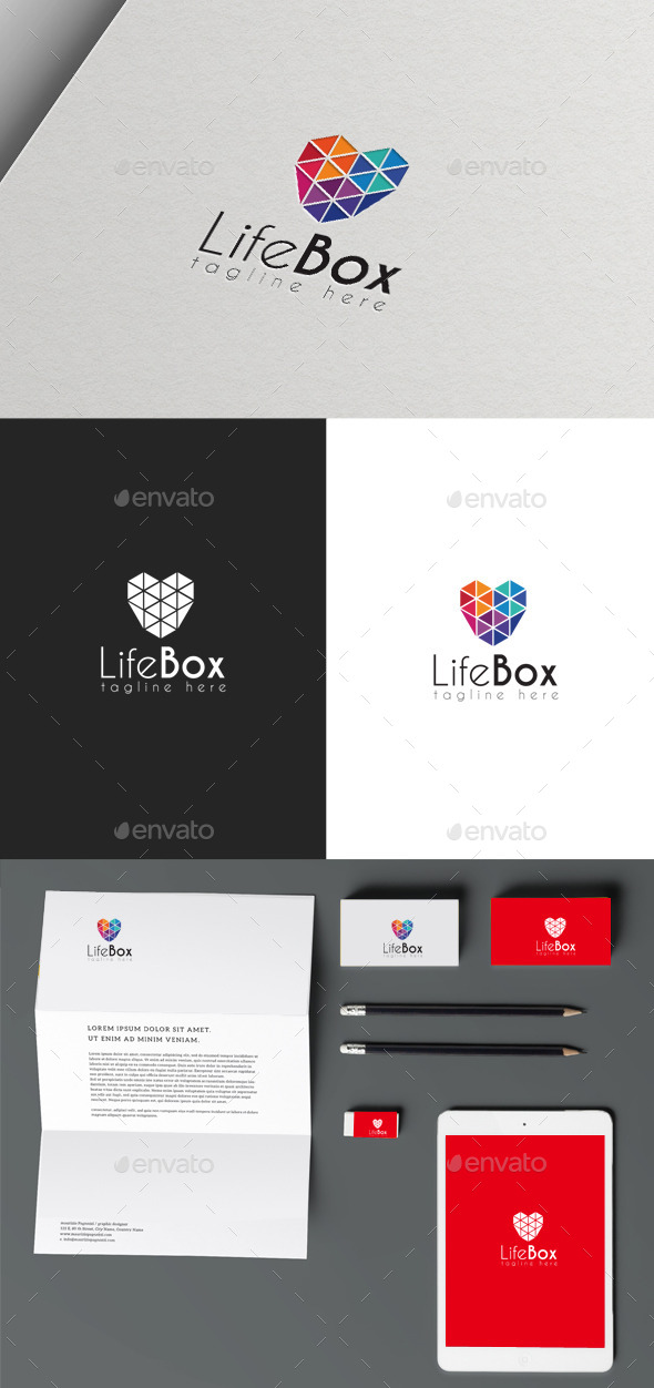 Life Box - Symbols Logo Templates