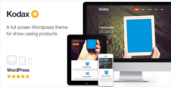 Kodax – Full Screen Landing Page