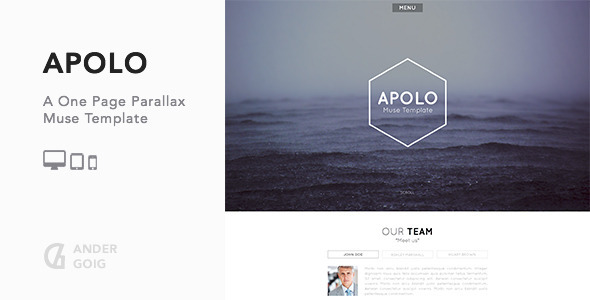 Apolo – One Page Parallax Muse Template