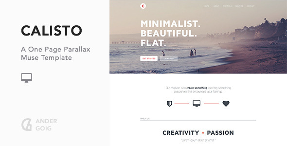 Calisto – One Page Muse Template