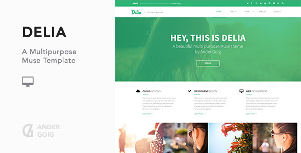 Delia – Multipurpose Muse Template