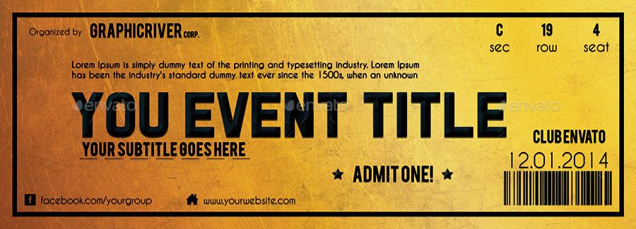 golden ticket templates