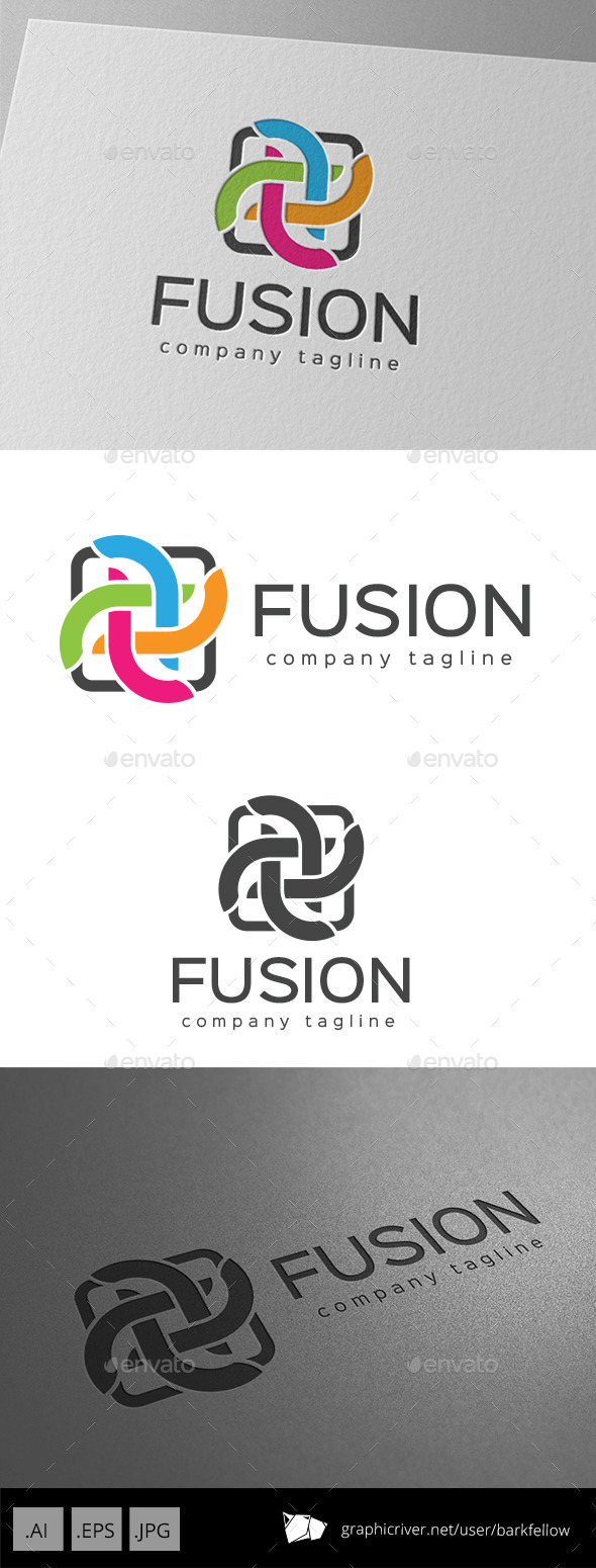 Color Fusion Logo - Abstract Logo Templates