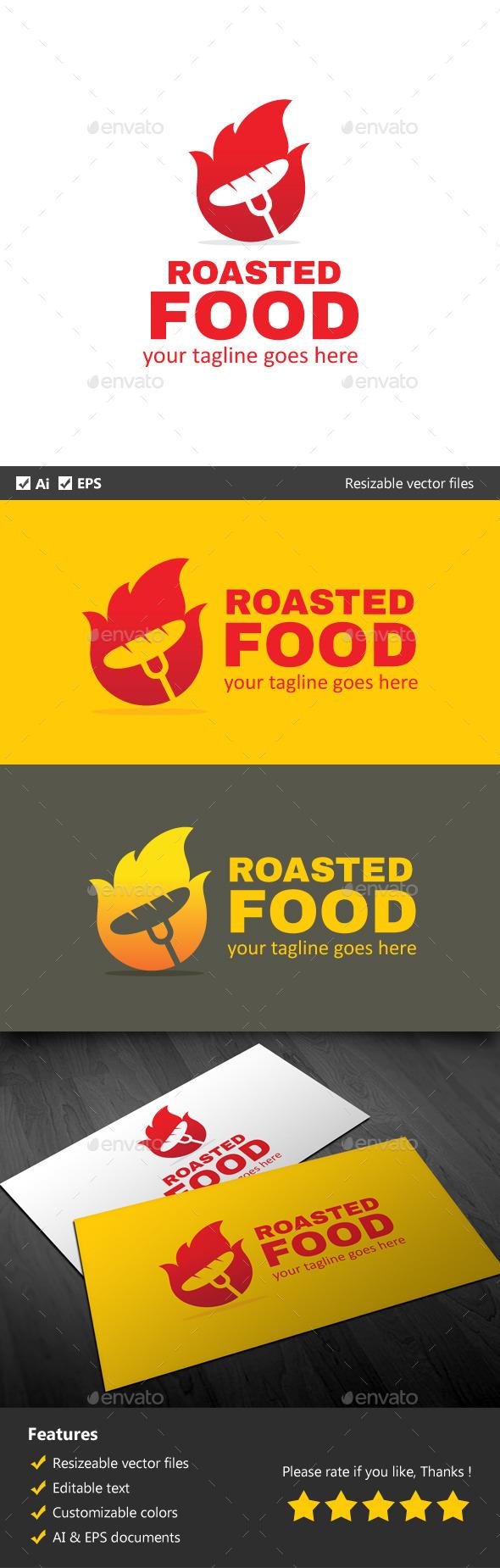 Roasted Food - Food Logo Templates