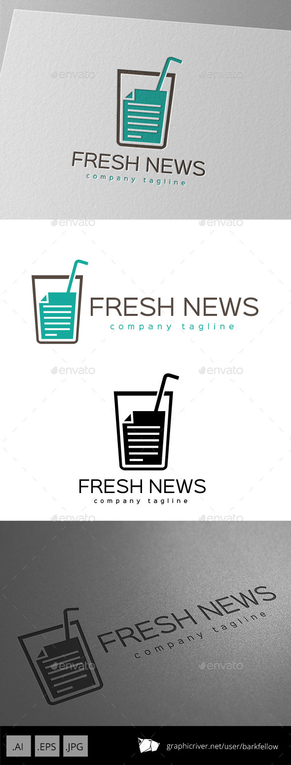 Fresh News Logo Design - Food Logo Templates