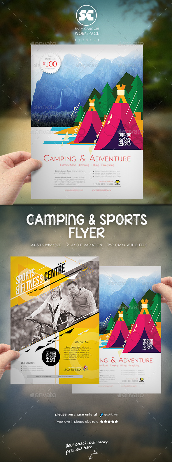 Creative Camping And Sports Flyer - Miscellaneous Events
