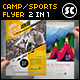 Creative Camping And Sports Flyer - GraphicRiver Item for Sale
