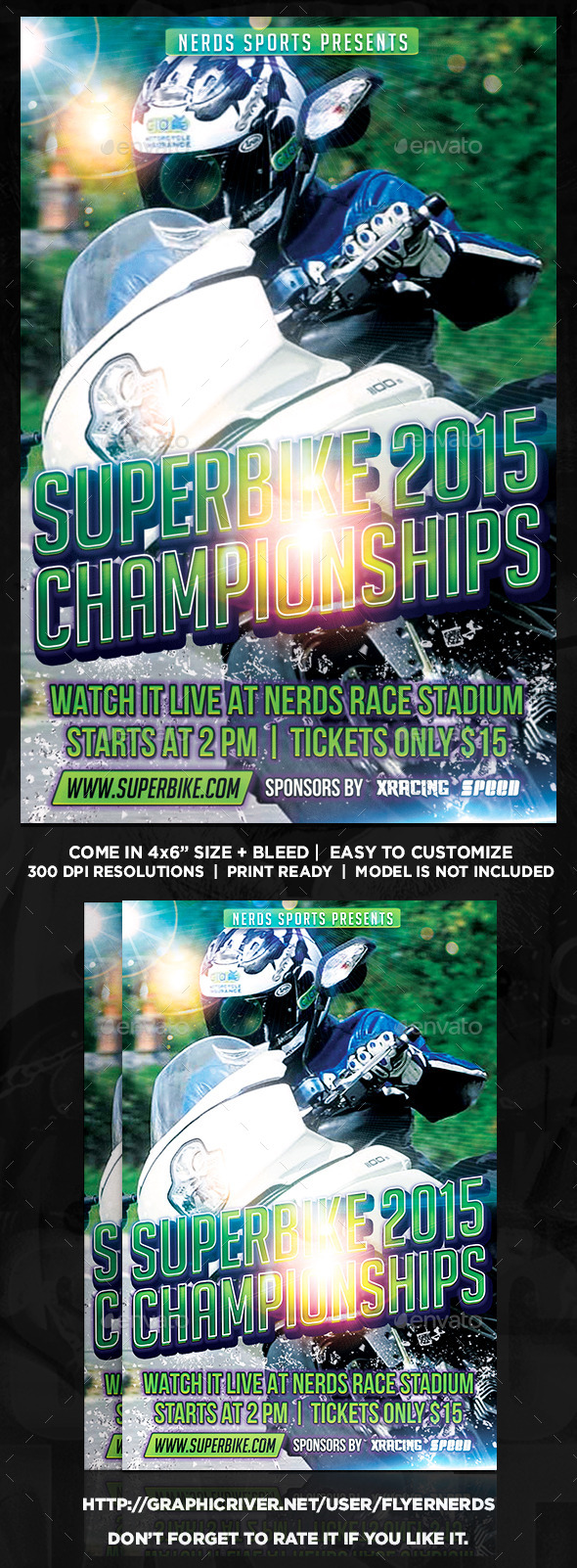 Superbike 2015 Championships Sports Flyer - Sports Events