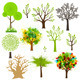 Tree Collection with Different Styles - GraphicRiver Item for Sale