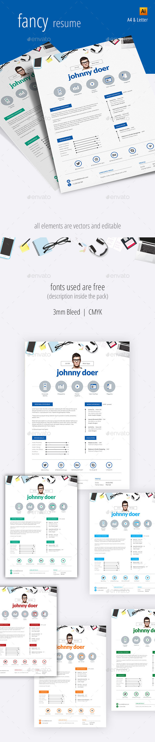 Fancy Resume - Resumes Stationery