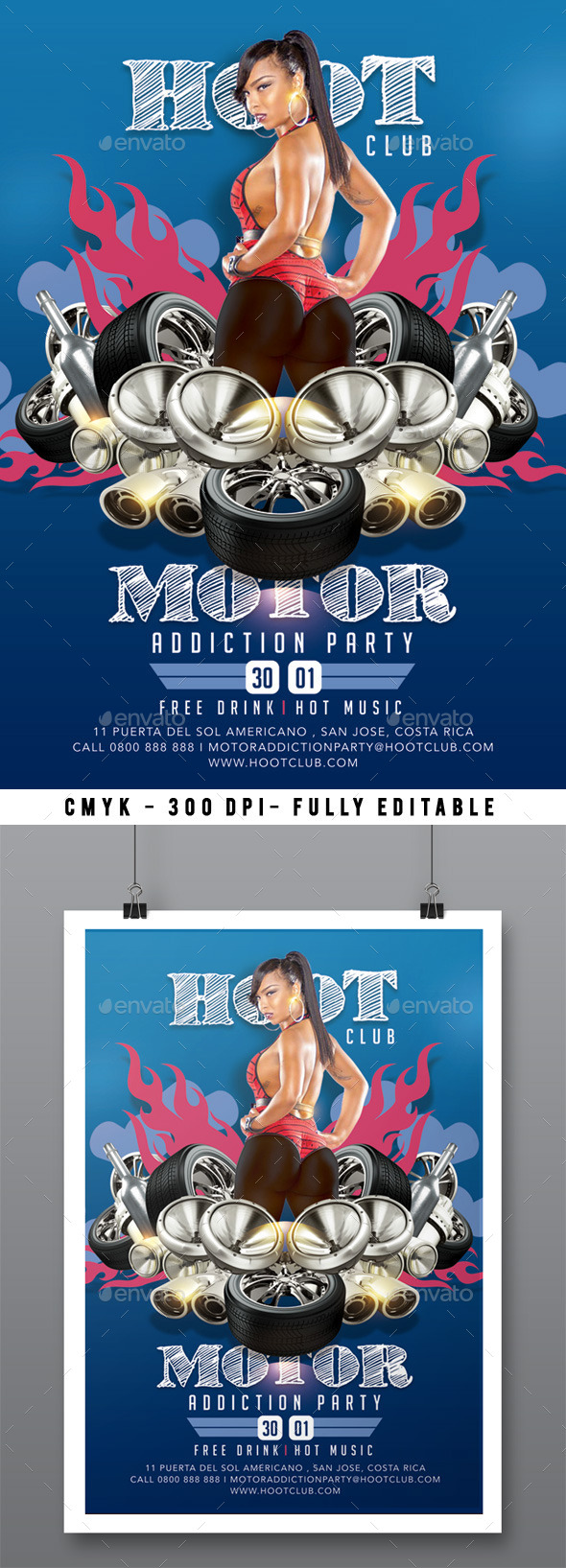 Motor Addiction Party In Hot Hoot Club - Clubs & Parties Events