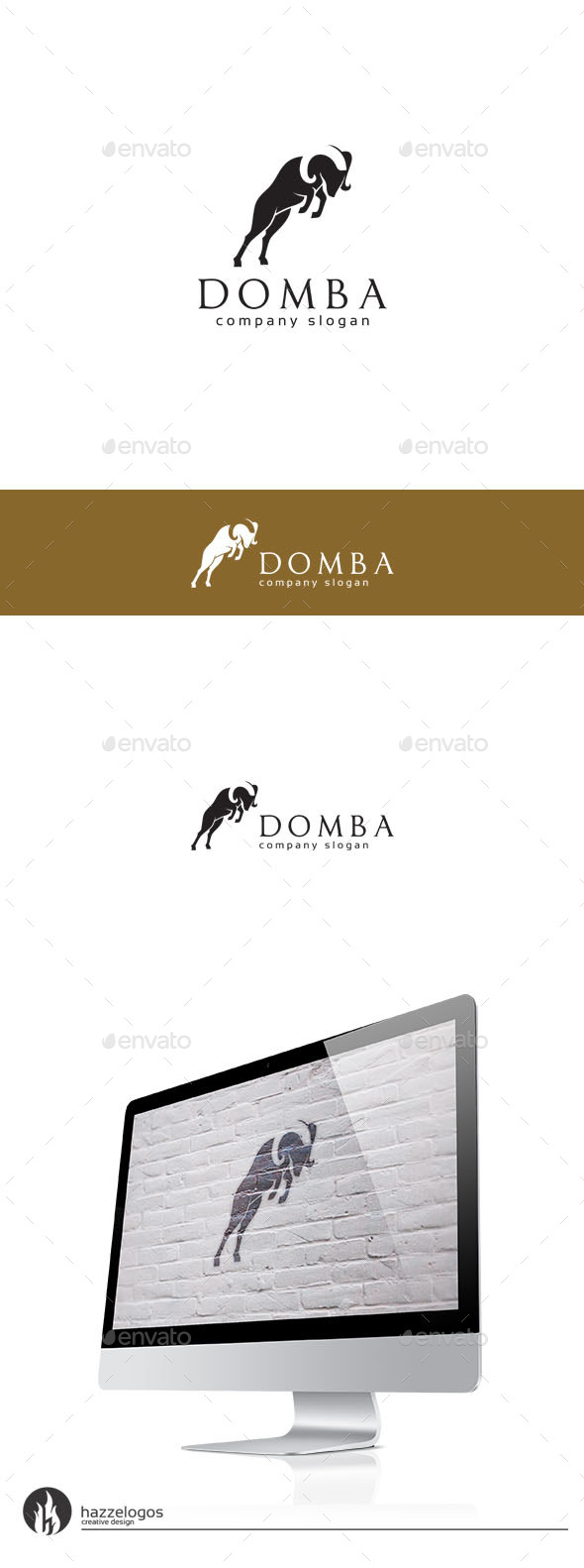 Domba Logo - Animals Logo Templates