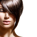 Beauty woman portrait with fashion trendy hair style - PhotoDune Item for Sale
