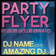 Electro Party Flyer with Customizable Background - GraphicRiver Item for Sale