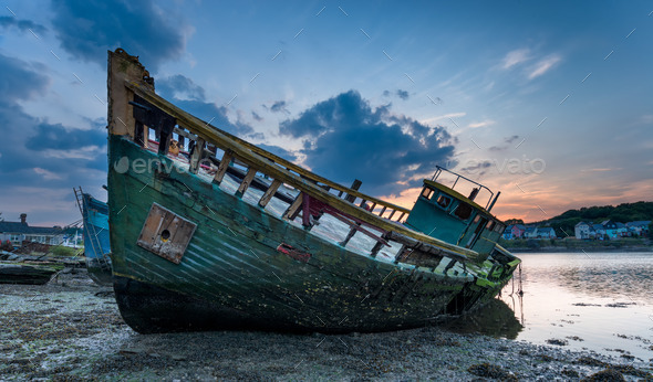 Boat Graveyard - Stock Photo - Images