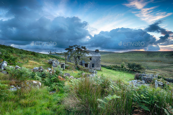 Bodmin Moor in Cornwall - Stock Photo - Images