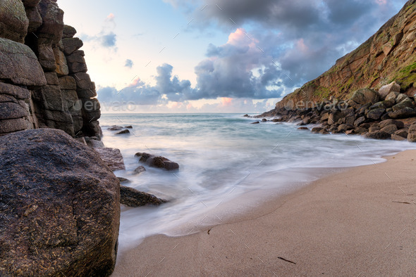 Porthgwarra Cove - Stock Photo - Images
