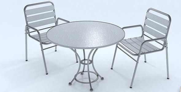 Bar table set - 3DOcean Item for Sale