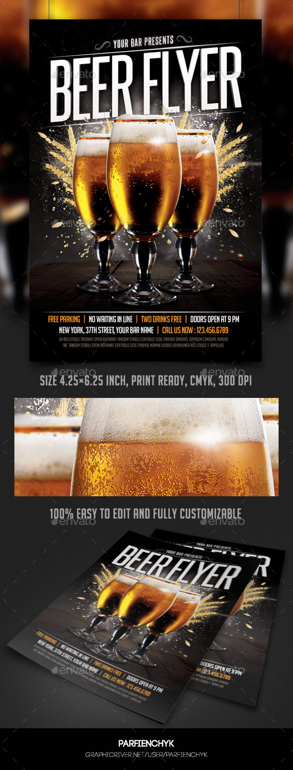 Beer Flyer Template - Events Flyers