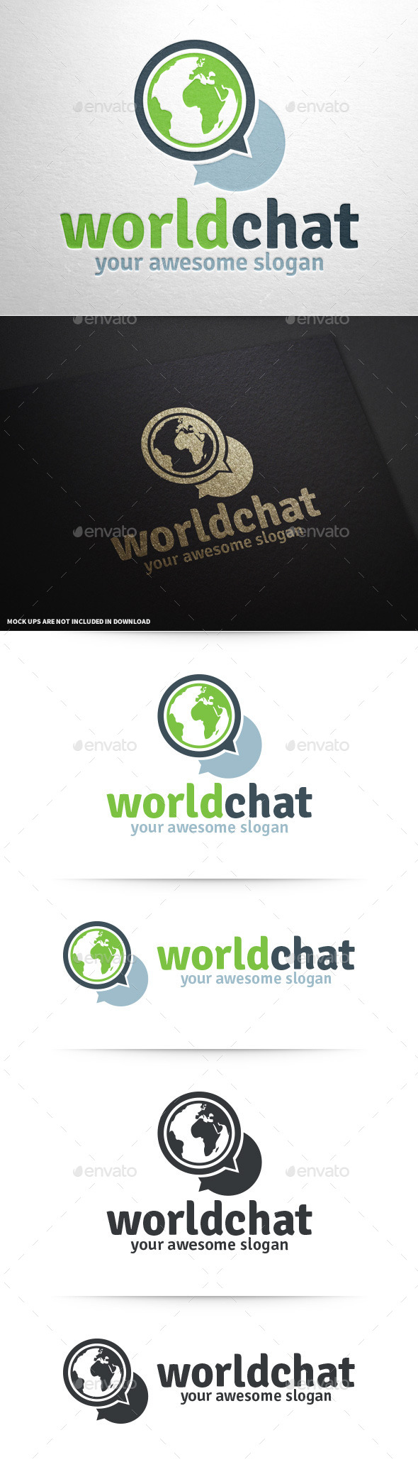 World Chat Logo Template - Symbols Logo Templates