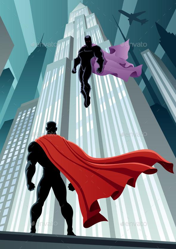 Hero Versus Villain - People Characters