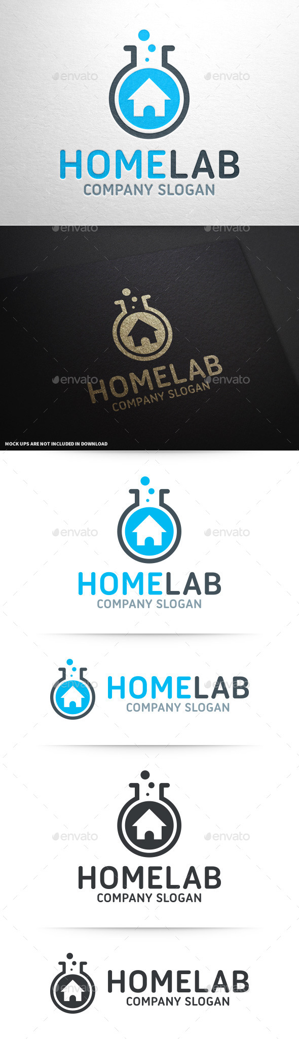 Home Lab Logo Template - Buildings Logo Templates