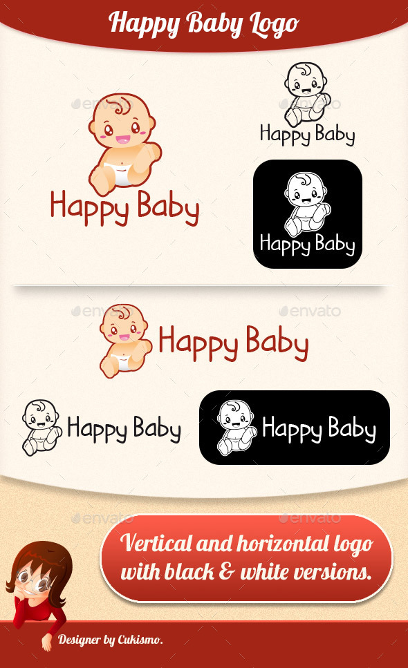 Happy Baby Logo - Humans Logo Templates