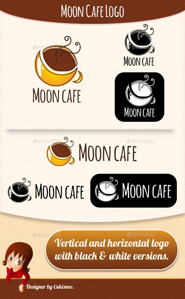 Moon Coffee Logo - Food Logo Templates
