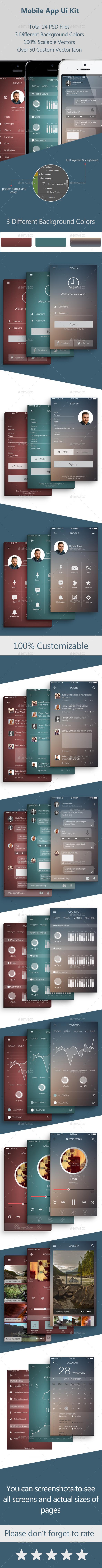 Mobile App Ui Kit - User Interfaces Web Elements