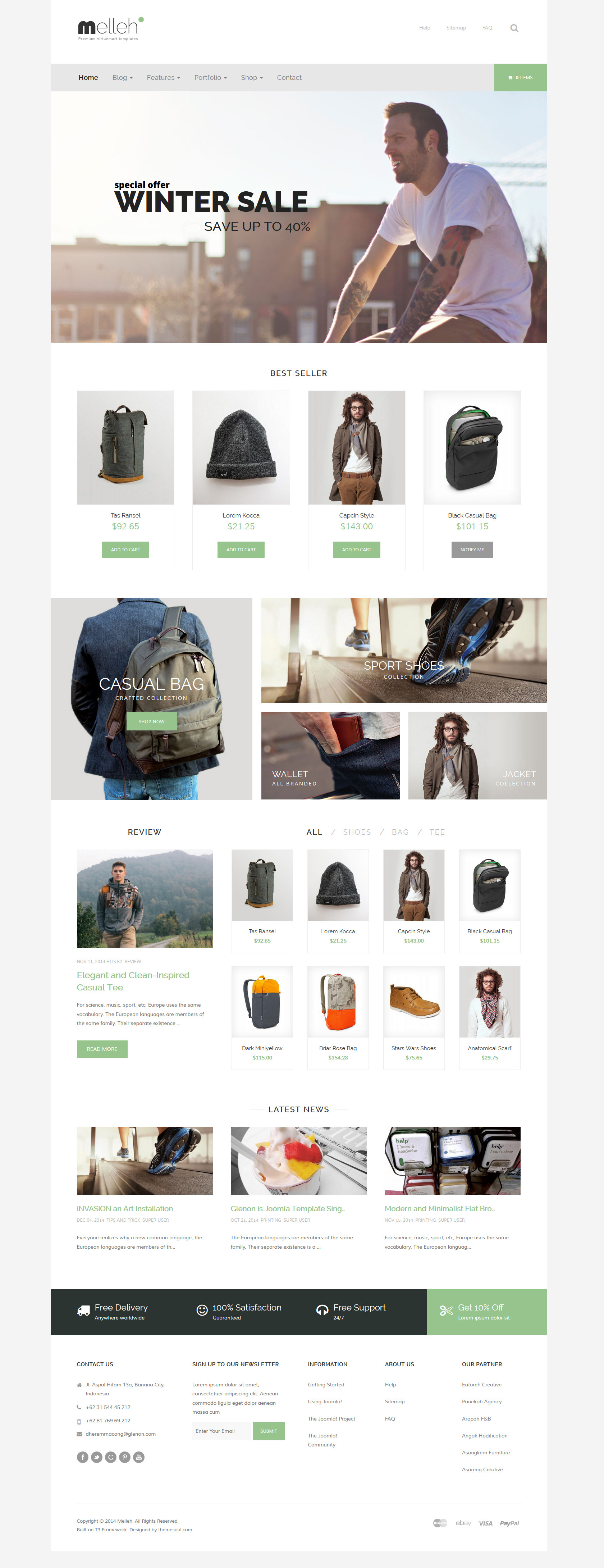 Melleh - Clean Ecwid and Virtuemart Template by themesonic ...