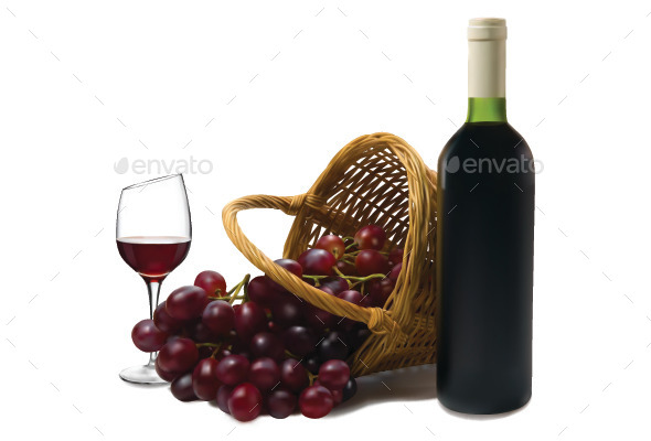 Wine - Food Objects