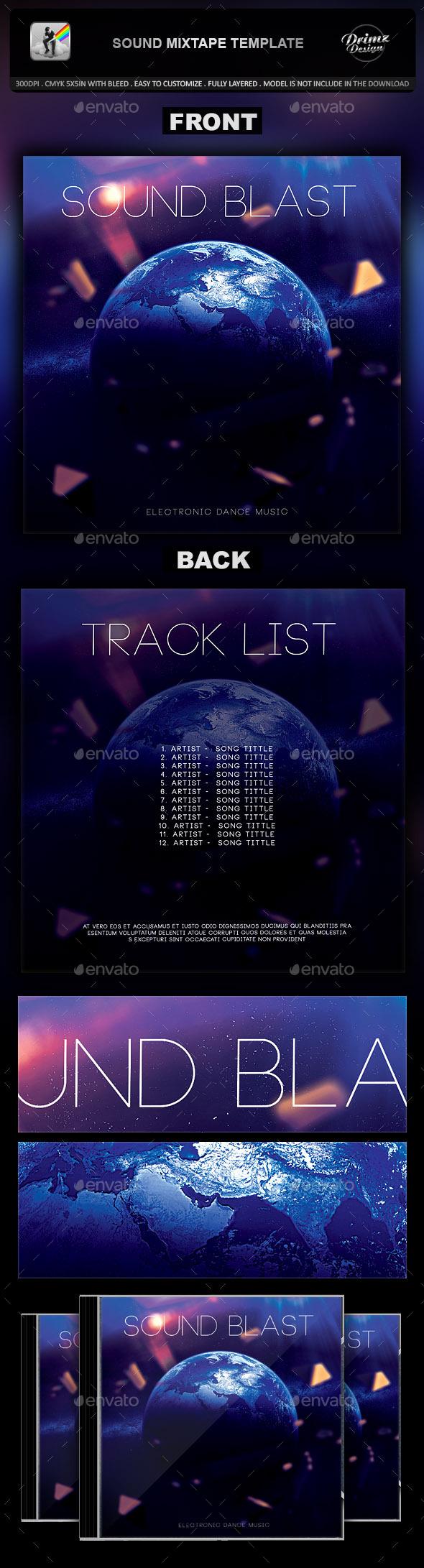 Sound Mixtape Template - CD & DVD Artwork Print Templates