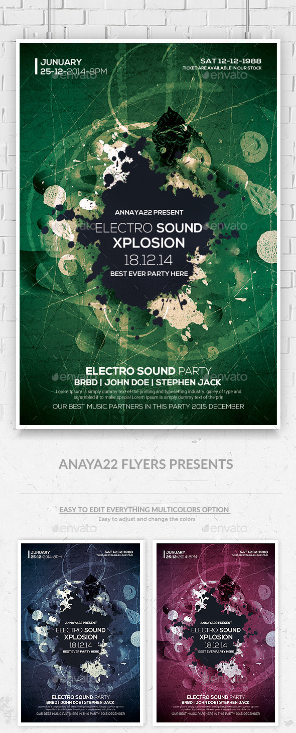 Abstract Future Flyer Templates - Clubs & Parties Events
