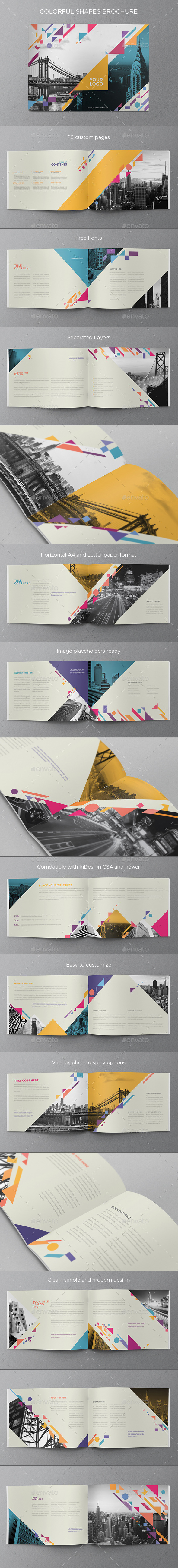 Colorful Shapes Brochure - Brochures Print Templates
