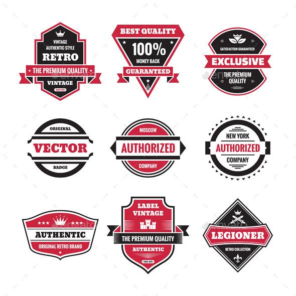 9 Labels and Badges  - Decorative Symbols Decorative