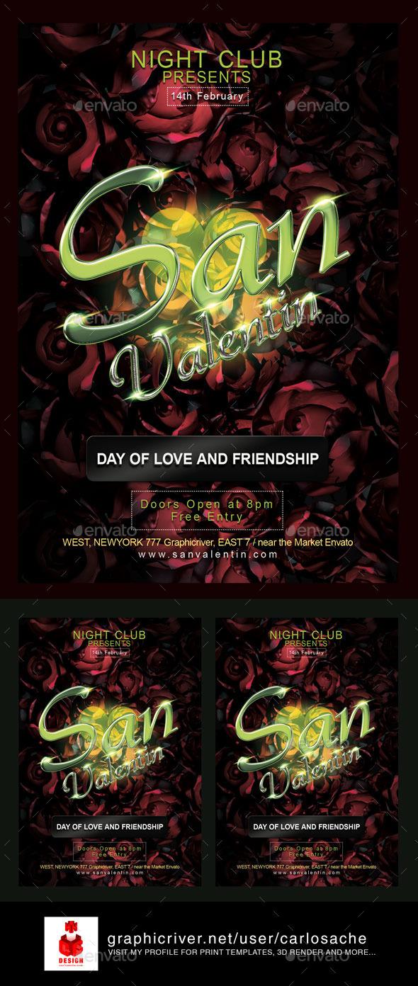 San Valentin / Valentines Flyer - Holidays Events