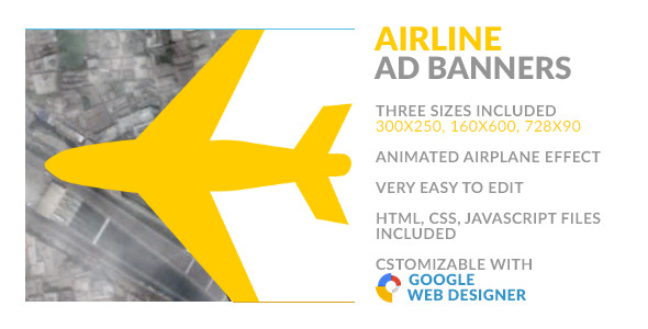Airline HTML5 Ad Banner - CodeCanyon Item for Sale