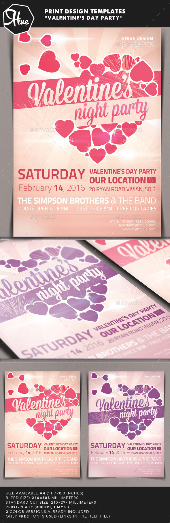 Valentine's Day Event - Print Templates