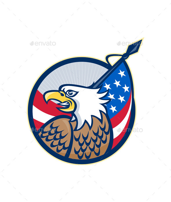 American Eagle Stars and Stripes Flag - People Characters
