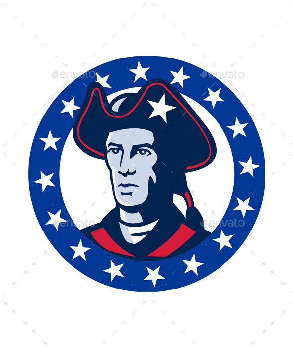 American Patriot Minuteman  - People Characters