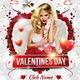 Valentines Day Flyer + Facebook Cover - GraphicRiver Item for Sale