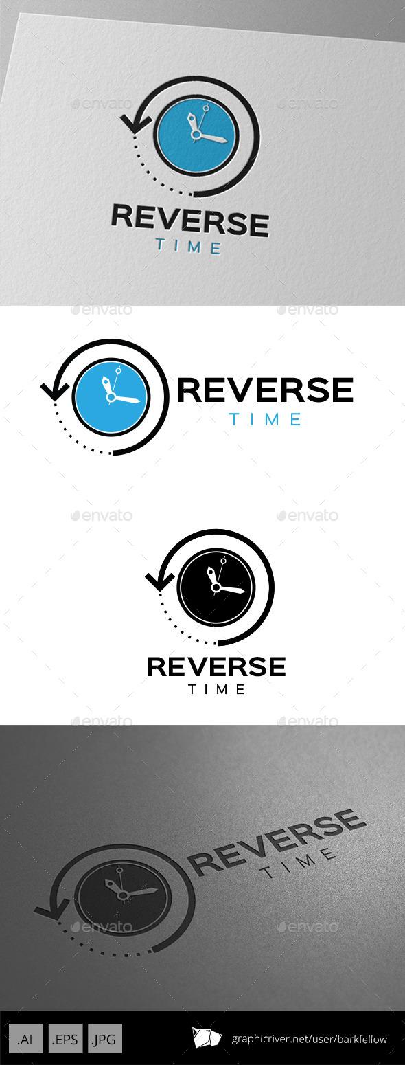 Reverse Time Logo Design - Symbols Logo Templates