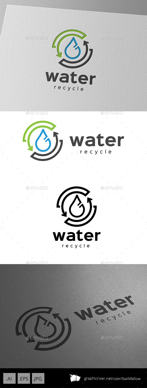 Recycle Water Logo Design - Nature Logo Templates