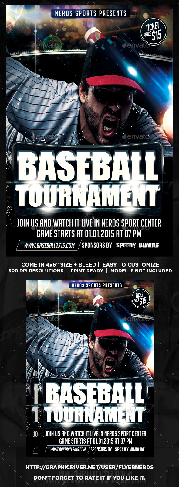 Baseball Championships Sports Flyer - Sports Events