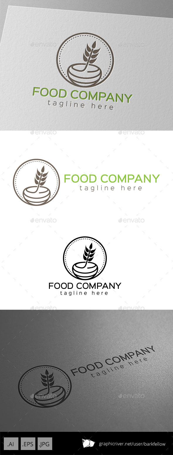 Food Honey Company Logo - Food Logo Templates