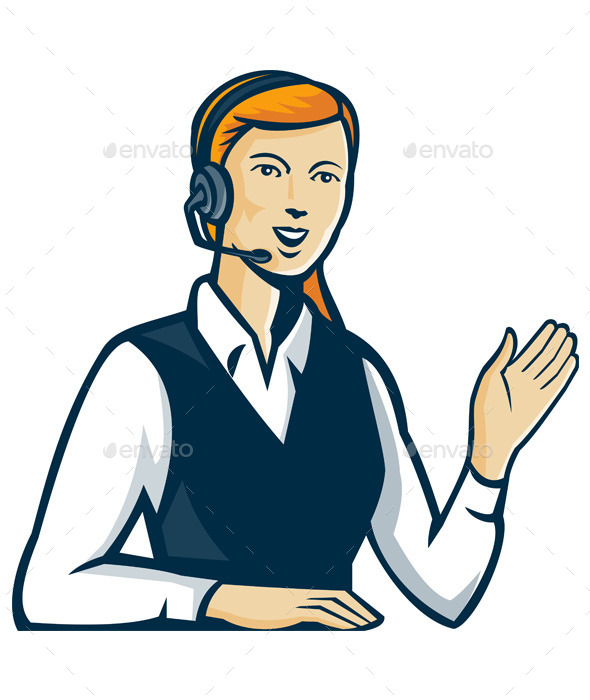 Telemarketer Call Center Operator - People Characters
